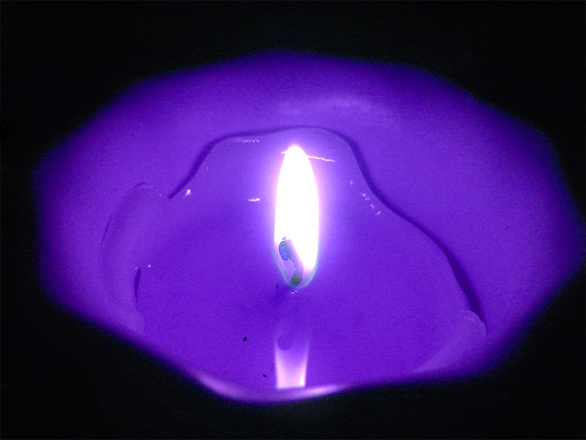 Purple Candle Ambition Spell